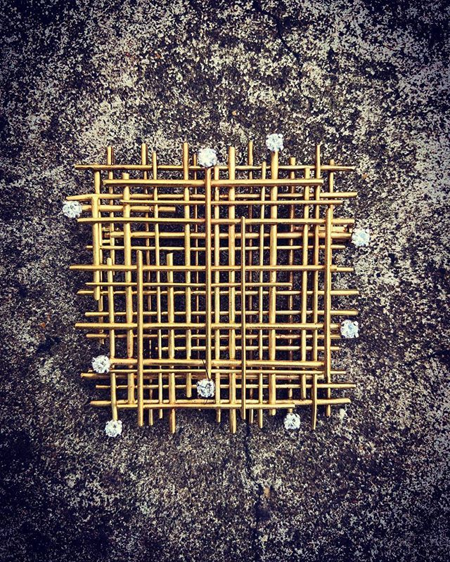 Yellow gold and diamond Grid brooch by Andrew Grima 1967 | for more information: info@grimajewellery.com