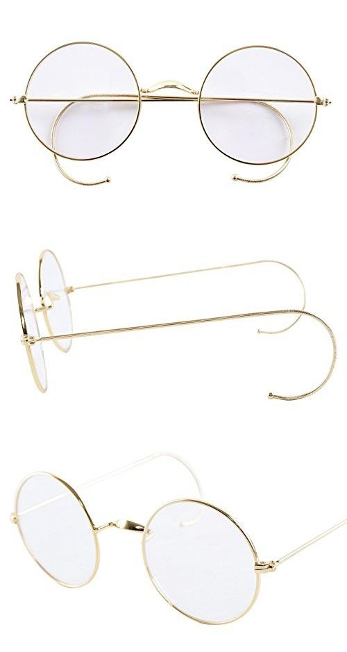 6f83989136d Agstum Retro Round Optical Rare Wire Rim Eyeglass Frame 49mm (Without Nose  Pads) (Gold