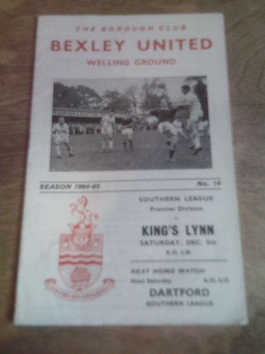 Away to Bexley United   Dec 1964  Southern League