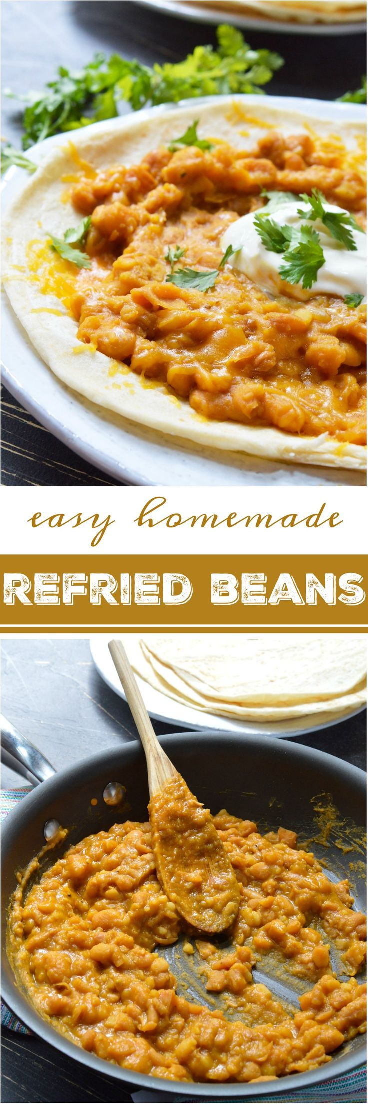 If you make this Refried Beans Recipe with Canary Beans you may never go back to the canned variety! This refried beans recipe is simple and produces the creamiest consistency thanks to the Canary Beans, also known as Mayocoba beans. These Peruvian beans are similar to pinto beans and taste great with any of your favorite Mexican dishes! vegetarian and vegan options included #ad
