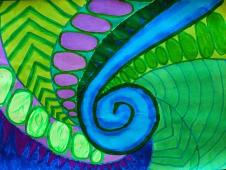 New Zealand Koru Designs... pattern/ emphasis/value/color schemes- so many different ideas!