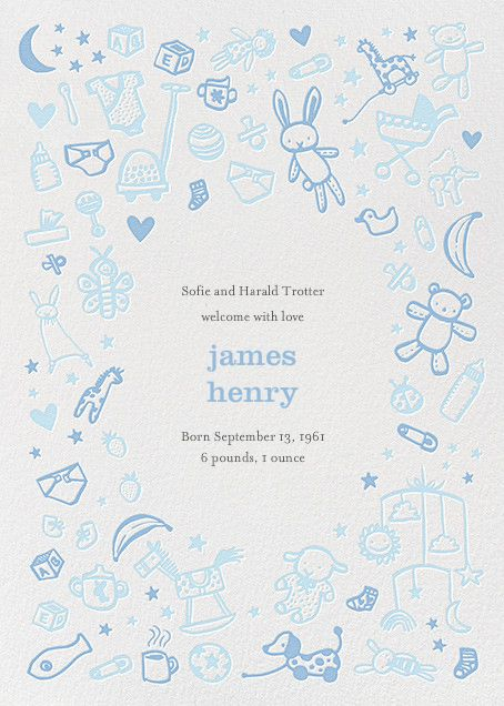 Baby Things By Hello!Lucky For Paperless Post. Design Custom Birth  Announcements With Our