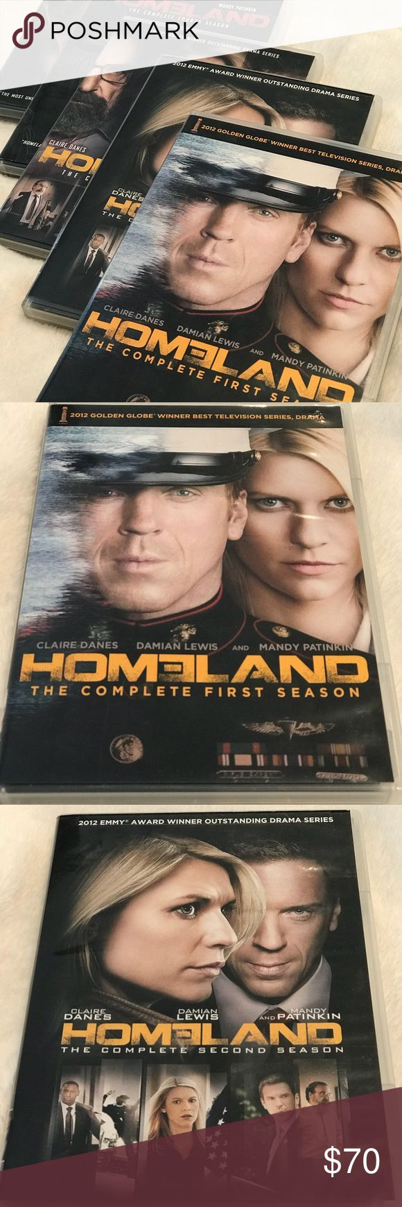 HBO Homeland Complete Seasons 1-5 DVD Cozy up on the weekend with this incredibly entertaining and addicting show! Entire season watched only once, all discs in mint condition! Super fast shipping 👍 Other