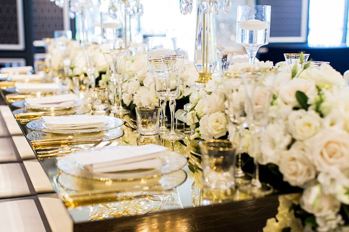 Gold wedding details at Doltone House! 5 five tips every bride should know about before making any decisions on the styling of your wedding venue! How to style a luxury wedding reception...