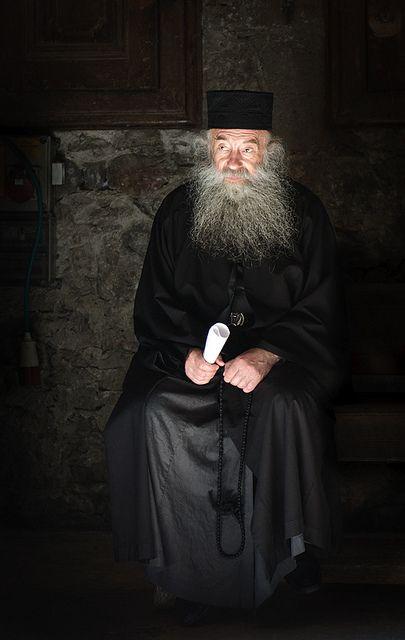 Portrait of Greek Orthodox priest