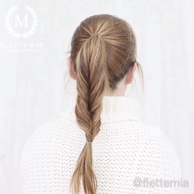 """Superrask og enkel frisyre: falsk fiskebeinsflette  / Super quick and easy style: faux fishtail braid "" Photo taken by @flettemia on Instagram, pinned via the InstaPin iOS App! http://www.instapinapp.com (03/30/2016)"
