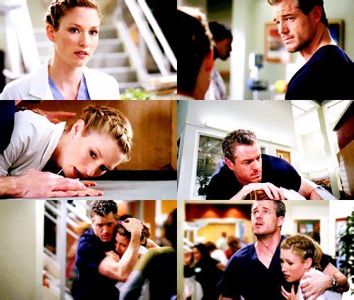 Mark and Lexie in the season 6 finale. **BAWLS** I can't believe she's gone...