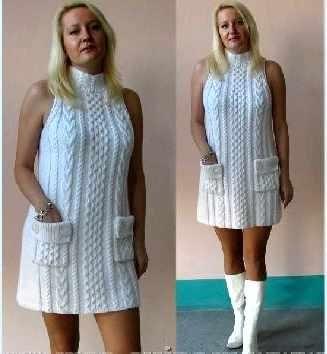 Вязанные свитера для полных женские