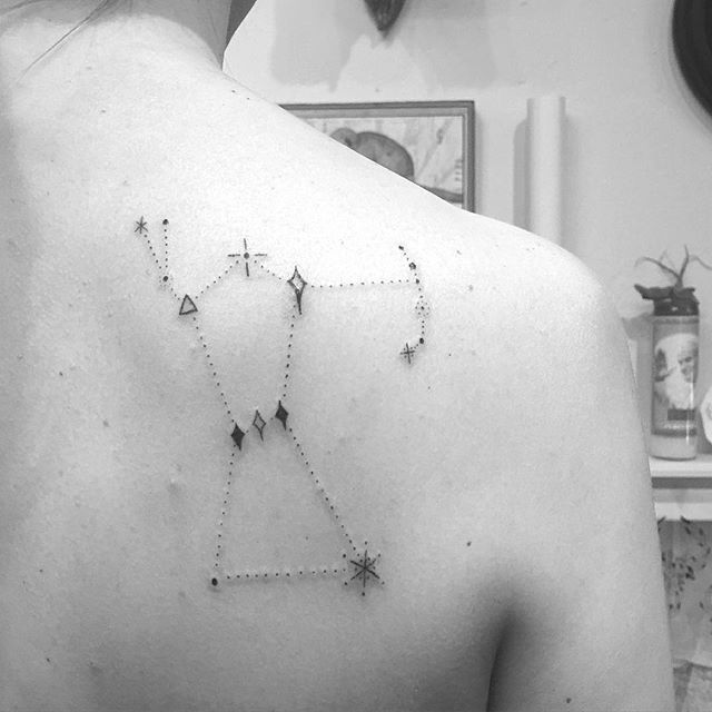 Orion constellation and first tattoo for Katie. Thanks for coming in! #handpoke #handpoked #handpokedtattoo #orion
