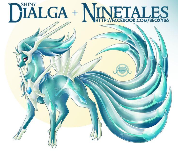 Ninetales X Shiny Dialga [closed] by Seoxys6.deviantart.com on @DeviantArt