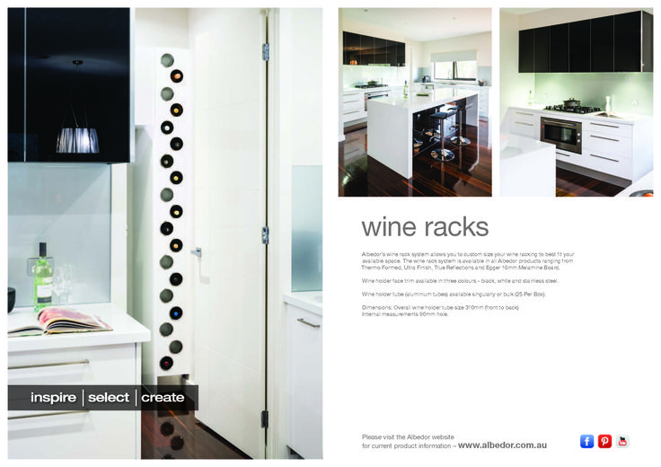 Wine Rack Mini Brochure. If you would like to view or download our Brochure just click on the link below- http://www.albedor.com.au/images/downloads/brochures/2014_wine_racks_mini_brochure.pdf