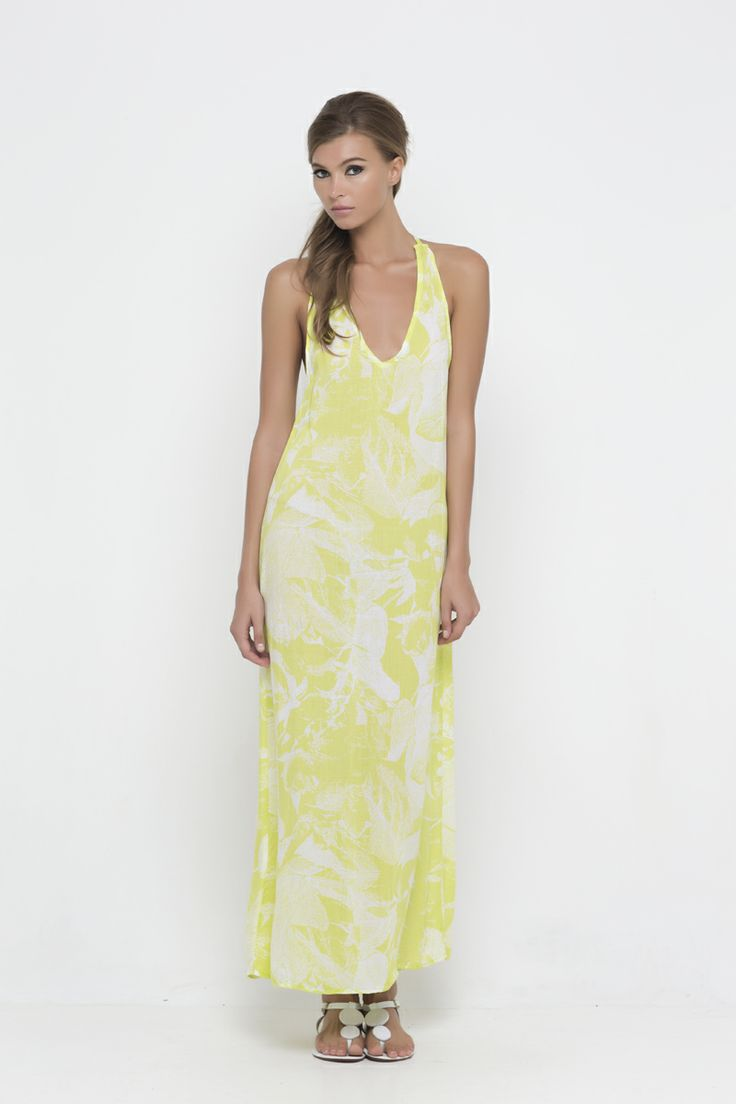 PM 1041 Leaf Stencil Maxi Dress  www.palma-australia.com/shop.php
