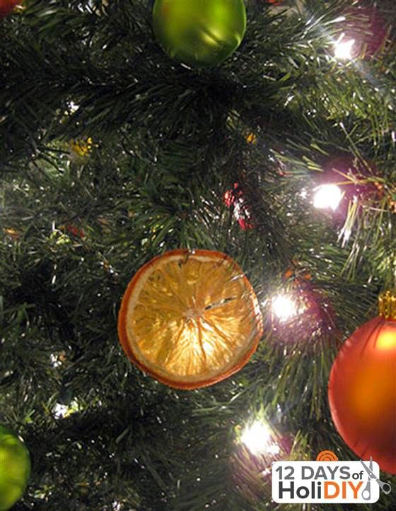 Add a colorful, organic touch to your tree — or anywhere — with dried orange slice ornaments. Young House Love has the tutorial for the fragrant project.