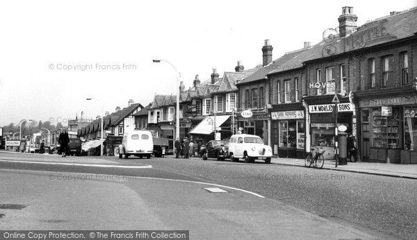 Worcester Park, Central Road c.1965, from Francis Frith
