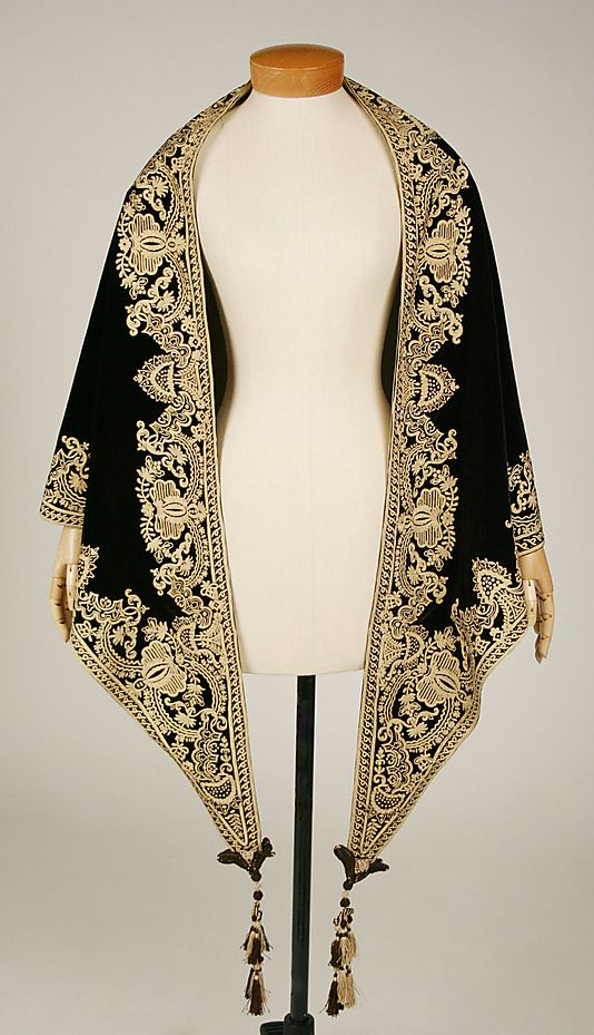 Mantle Date: 1857–60 Culture: American Medium: silk Dimensions: Length: 97 in. (246.4 cm)