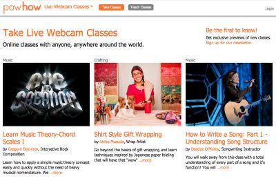 Powhow: Former Googler Unveils An Online Marketplace For Live, Webcam Classes | TechCrunch