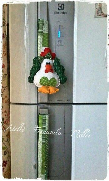 Puxador de geladeira.
