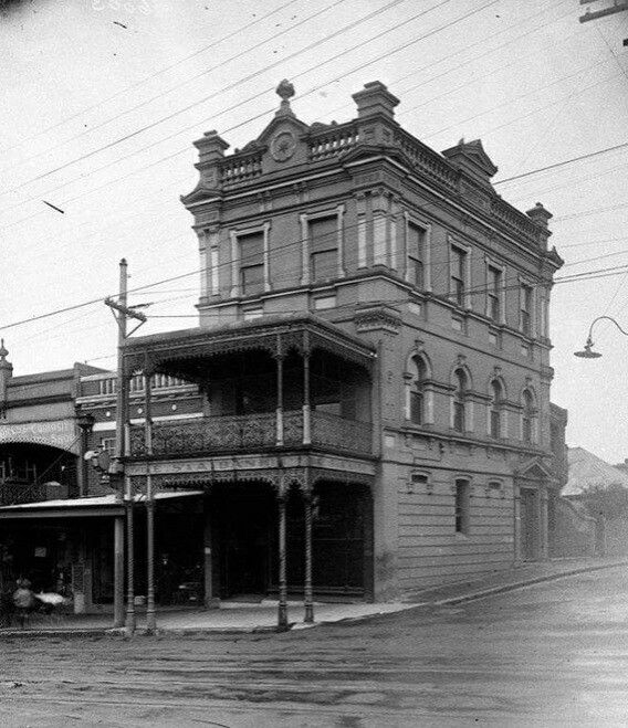 The former English,Scottish and Australian Bank building on Weston Rd/Victoria Rd,Rozelle in inner west Sydney in 1900. State Library of NSW.