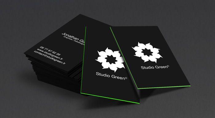 Création de cartes de visite - Studio Green