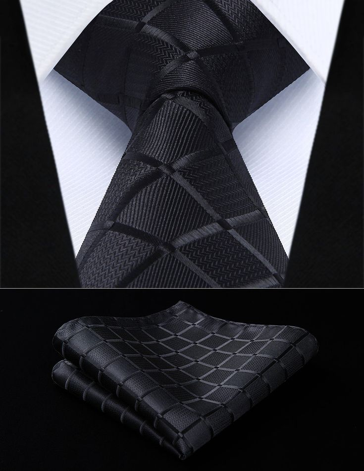 Sleek Black Squares Tie Set — www.twentydollartie.comTwenty Dollar Tie