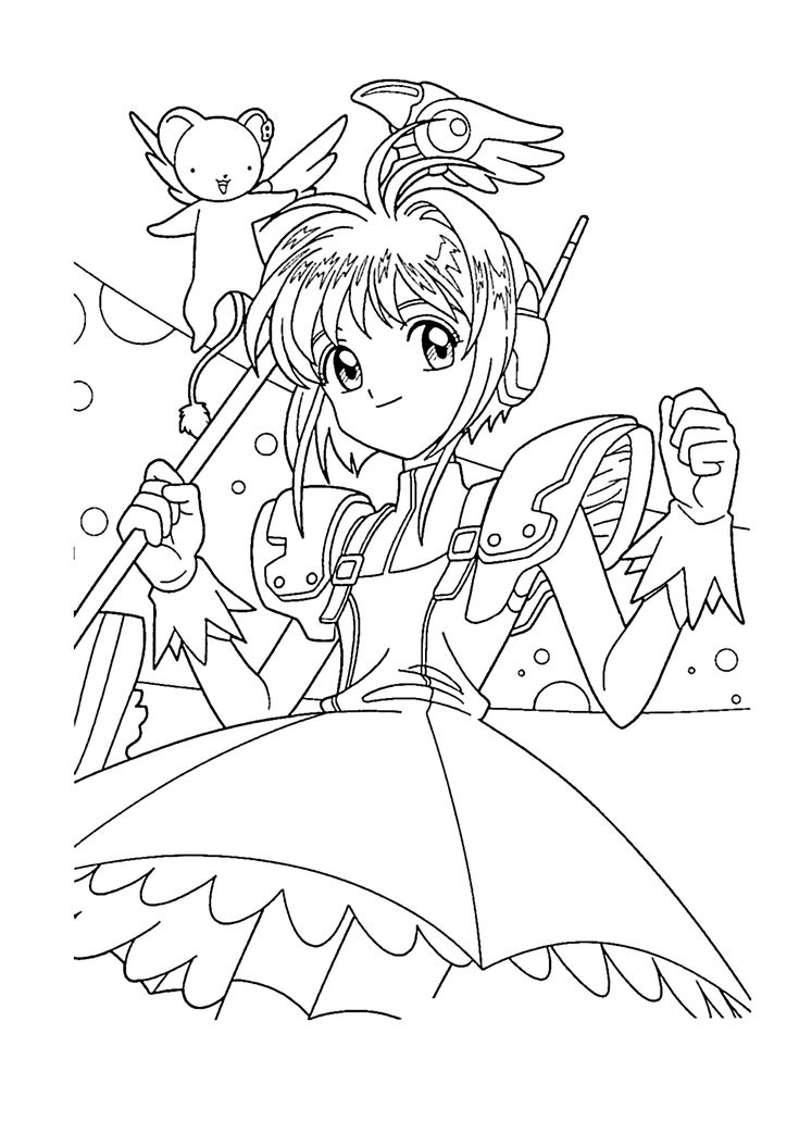 49 best Cardcaptor Sakura Coloring Pages images on ...