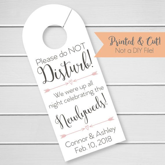 The  Best Wedding Door Hangers Ideas On   Simple