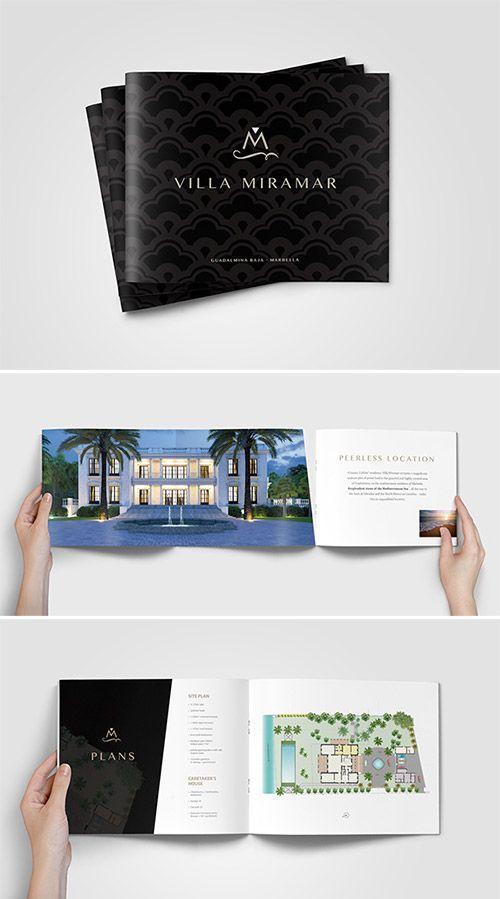 Best Properties Images On   Brochures Design Layouts