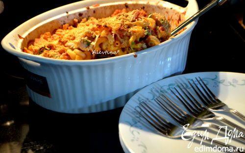 Запеченная курица с пастой по-итальянски куриные грудки, мелкие макароны, томаты в собственном соку, моцарелла| Кулинарные рецепты от «Едим дома!»