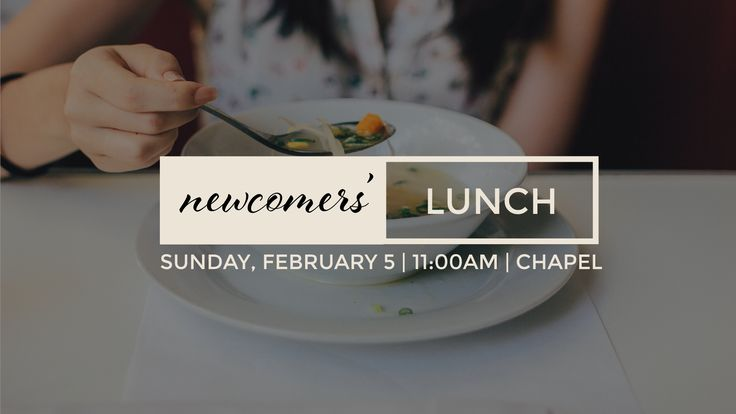 Church announcement slide - Newcomers' Lunch