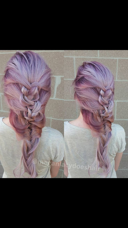 Beautiful purple dreamy braid