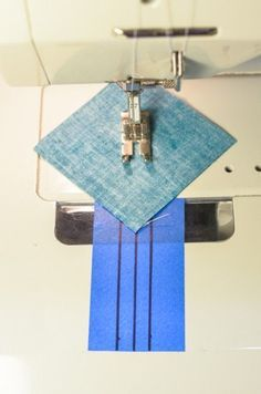 half square triangle blocks shortcut tutorial. I use this method every time. Never have to draw the sewing lines....