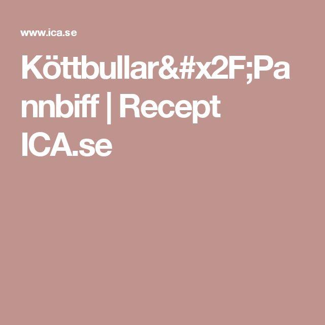 Köttbullar/Pannbiff   Recept ICA.se