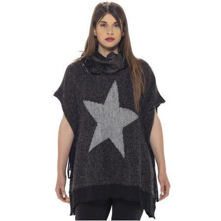 Jersei-Poncho Mat Fashion