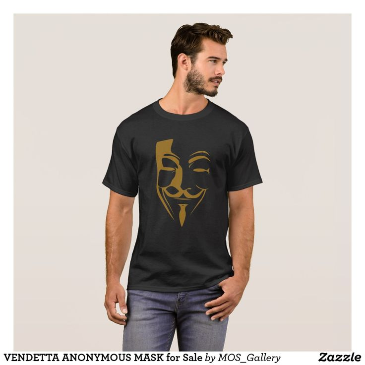 VENDETTA ANONYMOUS MASK for Sale T-Shirt