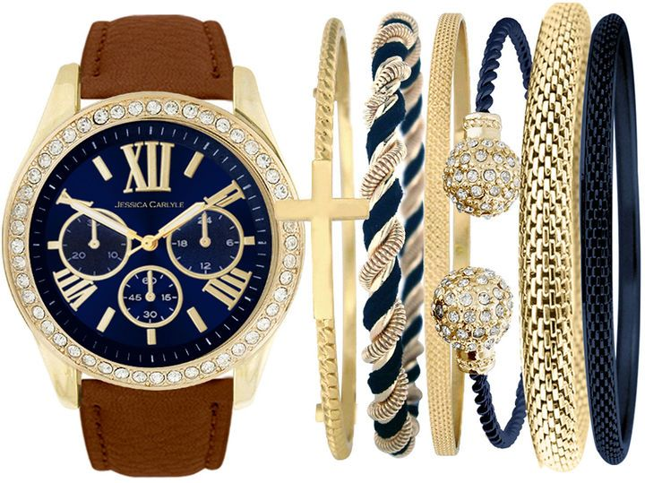 FASHION WATCHES Fashion Watches Womens Brown Watch Boxed Set