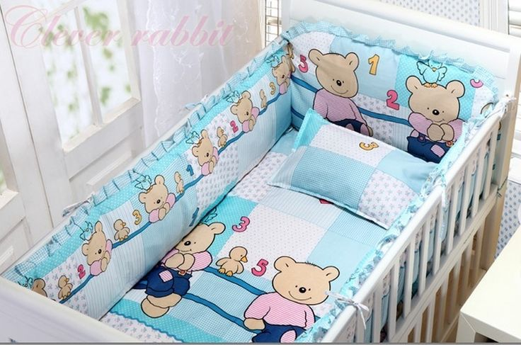 42.80$  Watch now - http://aihs6.worlditems.win/all/product.php?id=32379963905 - Promotion! 6pcs baby bedding set 100% cotton crib bedding curtain crib newborn bed sheet (bumpers+sheet+pillow cover)