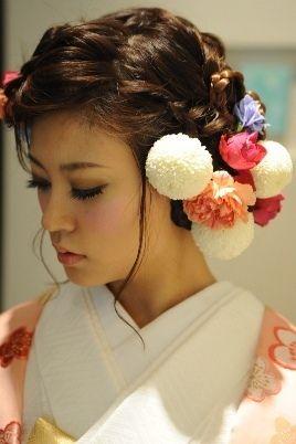 和装前撮りのヘアスタイル |piggyのおしゃれ結婚式準備ブログ☆