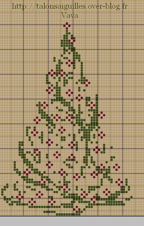 I promised you a week of Christmas tree cross stitch patterns, and here is one more. I love the classic look of this Christmas tree from Talons Aiguilles. The pattern is in French but you don&#8217…
