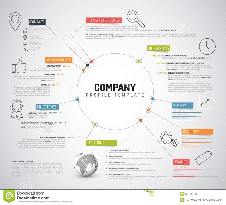 Vector Company Infographic Overview Design Template - Download From Over 52 Million High Quality Stock Photos, Images, Vectors. Sign up for FREE today. Image: 60709156