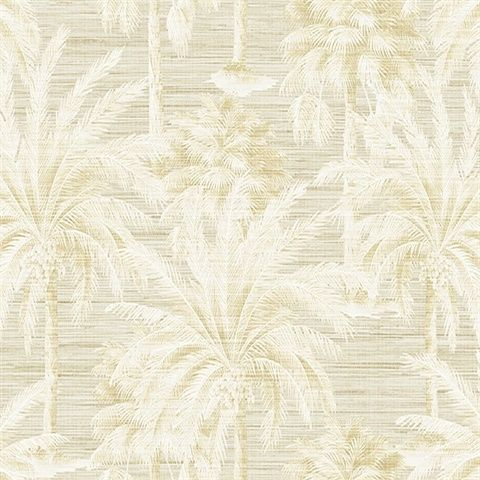 Dream Of Palm Trees Beige Texture