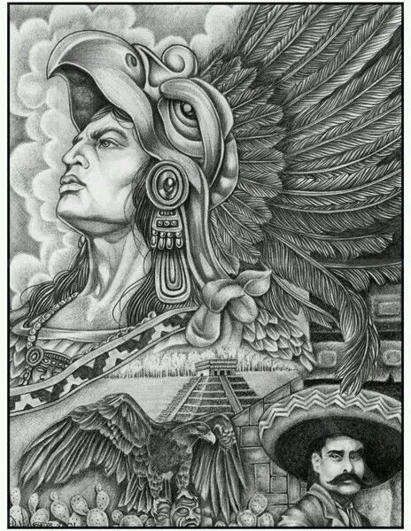 13 best images about aztec arte on pinterest chicano for Aztec mural tattoos