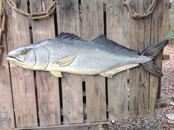 """Medregal 40"""" motosierra madera Taxidermia tallando la escultura de pesca deportiva de agua salada peces original acento náutico señuelo arte de la pared interior y exterior"""