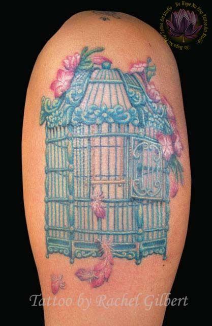 Open Bird Cage Tattoo Best 25+ Bird cage tat...