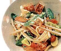 Křehké tofu se zeleninou