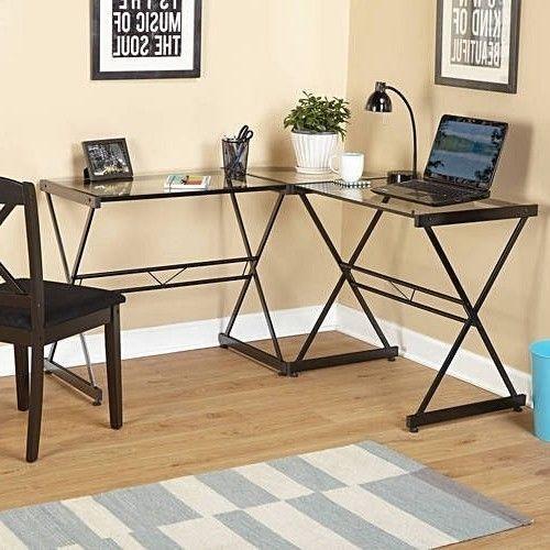 Compact Computer Metal Desk Laptop Workstation Home Office Study Furniture Black #TMS #Childrens