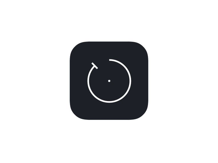 Minimal Timer iOS App Icon by Christoph Fahlbusch