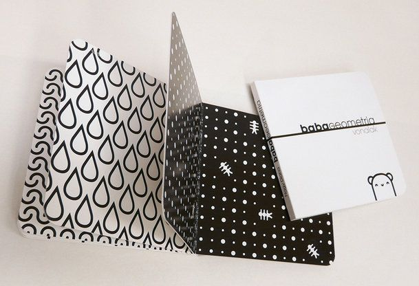 Babygeometry book by Diana Nagy - studies show that high contrast shapes can improve babies' vision, therefore black and white patterns are perfect for them