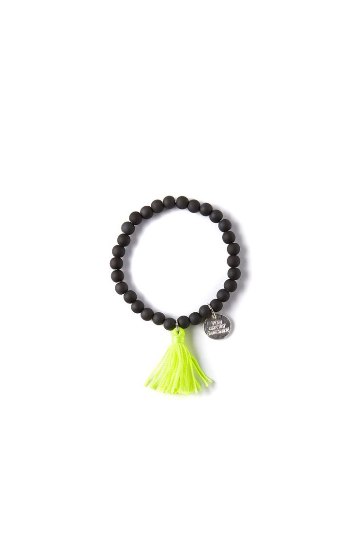 ella bracelet, BLACK/YELLOW