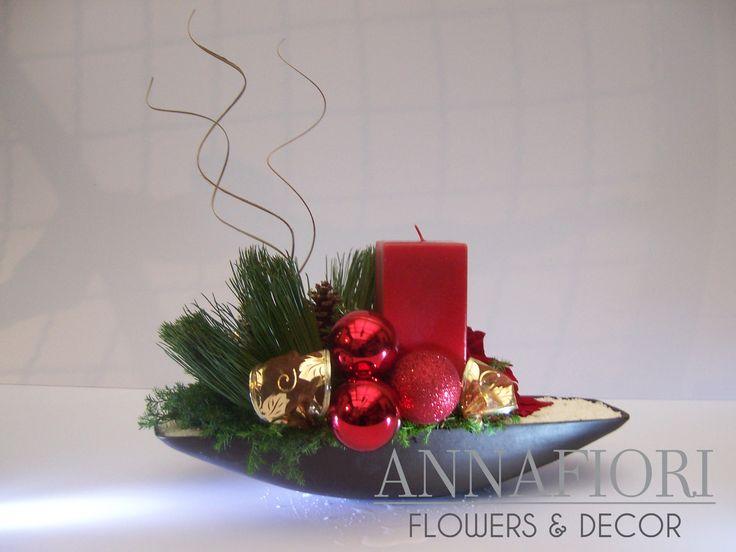 1000 ideas sobre centros de mesa de rboles de pi a en - Centros florales navidenos ...