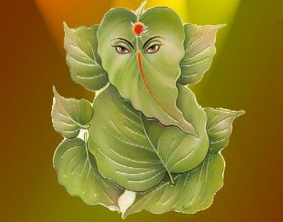 The naturalistic atmosphere given off from this amazing image is absolutely heart warming, Lord Ganesha is one with nature :]